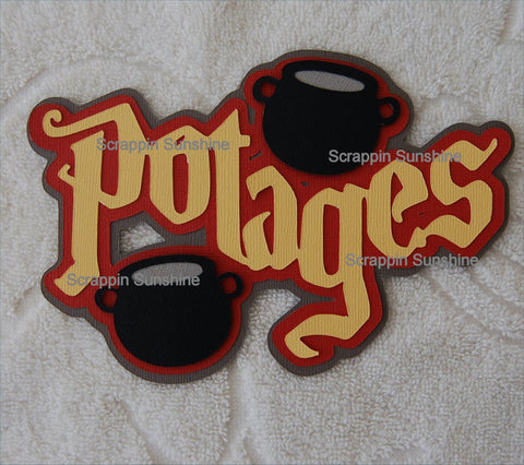Potages - Harry Potter Universal Studios Die Cut Title for Scrapbook Pages