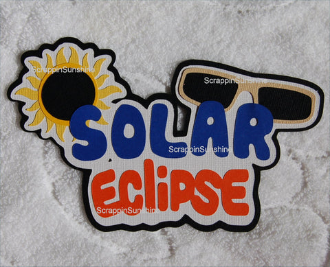Solar Eclipse Event Die Cut Title for Scrapbook Page