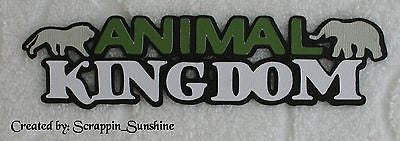 DISNEY ANIMAL KINGDOM TITLE #3 - Die Cut Title