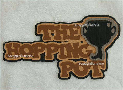 The Hopping Pot - Harry Potter Universal Studios Die Cut Title for Scrapbook Pages