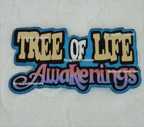 Disney Tree of Life Awakenings Die Cut Title Scrapbook Page Paper Piece