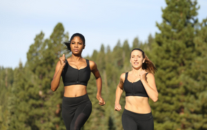 Female runners wearing the Betts Fit sports bra