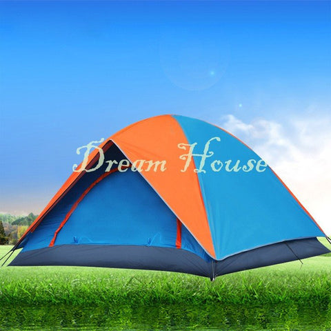 2015 New Style 4-Person Tent Double Layer Family And Party Camping Tent Beach Tent 10 - Ancheer Cycling - Tents - Safaryworld.com
