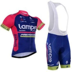 2016 New Team Lampre Comfortable 100% Polyester Breathable Bike Jerseys/Quick-Dry Brand Cycling Jerseys For man - Liking Cycling Jerseys store - Cycling Jerseys - Safaryworld.com