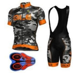 new camouflage cycling  breathable mtb bike cycling jersey bicycle bib shorts set
