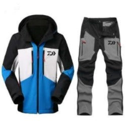 Daiwa Fishing Clothing Sets Men Breathable Sports Wear Set Hiking Windproof  Fishing Jacket Pants