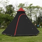 3-4 Person Pyramid Aluminum Rod Waterproof Family  Outdoor Camping Tent