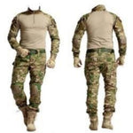 Army Military Uniform Camouflage Tactical Combat Suit Airsoft War Game Clothing Shirt +  Pants