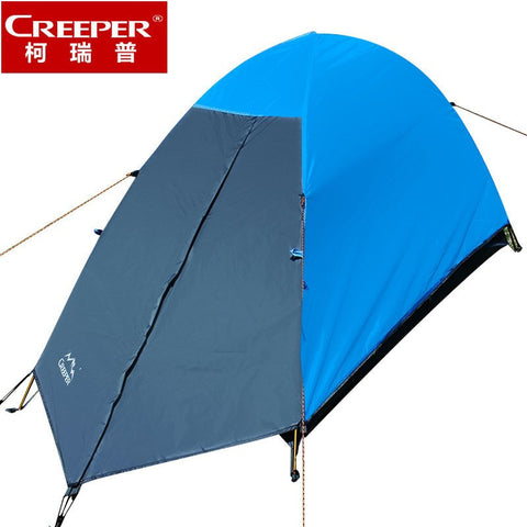 Creeper Aluminum Pole single bunk tent outdoor rain waterproof riding a person ultralight tent very light tent Seasons - Safaryworld Camping Fishing - Tents - Safaryworld.com