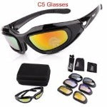 polarized army goggles cycling glasses military sunglasses 4 lens men's outdoor