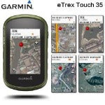garmin etrex touch 35 handheld hiking gps  glonass satellite outdoor navigator