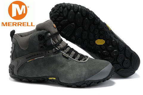 High Quality Merrell Men's Hiking Shoes,High-Top Merrell Men's Shoes Sneakers Greey Color Free Shipping