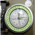 K4074 Army green color American Multifunctional  Luminous handheld compass with ruler level outdoor car compass - Safaryworld Camping Fishing - Compass - Safaryworld.com