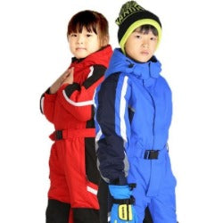Kids' snowboard  one-piece ski suit snowsuit boys girls thermal waterproof  windproof