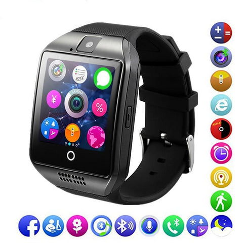 Bluetooth Smart Watch Q18 Support Sim TF Card Phone Call Push Message Camera Bluetooth Connectivity