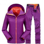 Camping Hiking Pants Men Women Outdoor Sport Fleece Trousers Trekking Ski Jacket Pants Set
