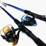 Lure Rod Carbon Deep Sea Saltwater Fishing Rod Portable Foldable Travel Spinning Cheap Telescopic Rods and Metal Reels Set - Safaryworld.com - 2