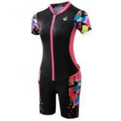 Triathlon Woman Cycling Jersey Quick Dry Short Sleeve Cycling Skinsuit Bike Jersey  clothes