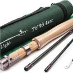 Maximumcatch Fly Rod  SK Carbon 7.6FT 3 WT Fast Action With Cordura Tube Super Light Fly Fishing Rod