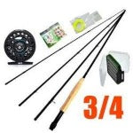 Maxway Fly Fishing Combo Set Fly Fishing Rod 2.1M 4 Sections + Fly Fishing Reels 3/4 Aluminum + Fly Line + Fishing lure with box - SeaKnight Outdoor(China)Co.,Ltd - Rod Combo - Safaryworld.com