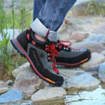 Men Hiking shoes Wear-resistant Outdoor Trekking shoes Breathable Climb Mountain shoes