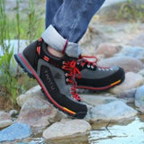men hiking shoes wear-resistant outdoor trekking shoes breathable climbing  shoes