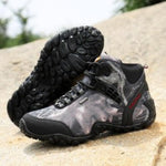 Outdoor Fun & Sports Mountain Trekking Shoes Hunting Boots Leather Waterproof Hiking Shoes