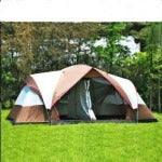 fully automatic two hall 6-8 person double layer camping tent against big rain large family  tent