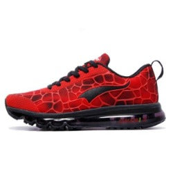 sport  men running shoes elastic red black sneakers air cushion athletic trainer man