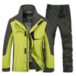 Outdoor hiking jacket Pants suits men plus size waterproof Windbreaker quick drying Sport  Sets