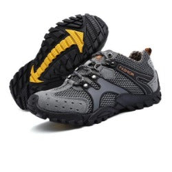 Mountain Leather Surface Men Hiking Shoes, Outdoor Waterproof Comfortable&Anti-Slippery