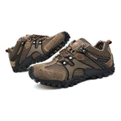 men's outdoor leather comfortable hiking shoes  waterproof  anti-slippery