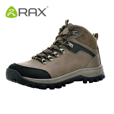 RAX Men Waterproof Hiking Boots Genuine Leather Hiking Shoes Men Lightweight Climbing Boots Breathable Mountaineering Shoes Men - Safaryworld.com - 2