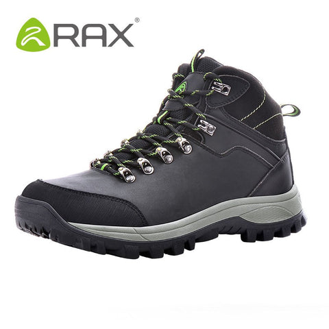 RAX Men Waterproof Hiking Boots Genuine Leather Hiking Shoes Men Lightweight Climbing Boots Breathable Mountaineering Shoes Men - Safaryworld.com - 1