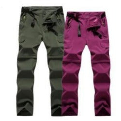 Detachable Shorts Pant Men Woman Summer Outdoor Hiking Pants Waterproof Quick Dry Cargo Pants