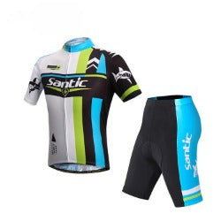 SANTIC Cycling Sleeve Jersey Racing Sportswear Cycling Bicycle Bike Comfortable Outdoor Jersey Short Cyling Sets S-XXXL - Scool Sports Equipment Co.,Ltd. - Cycling Jerseys - Safaryworld.com