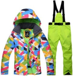 Women Snow Suit  High Quality Female Windproof Waterproof  Skiing And Snowboarding Suits