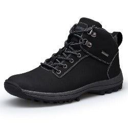 men boots  autumn winter mens leather fashion outdoor mountain men shoes waterproof