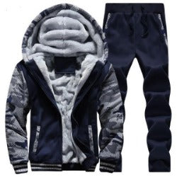 Winter Mens Warm Set Fleece Track suits for Men Tracksuit  RunningMens Hiking Suits