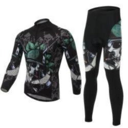 XINTOWN Skeleton Soldier Long sleeve Cycling Jersey Knights Cycling Wear Summer wicking riding clothes - Safaryworld.com - 1