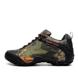 hiking shoes camo oxford waterproof men low boots  walking  anti-skid wear resistant shoes