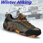 men outdoor sport hiking shoes waterproof hunting trekking sneakers shoes breathable genuine leather trail climbing shoes 372k - Helio Sports Products Limited - Hiking Shoes - Safaryworld.com