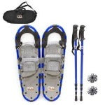 women men walking sticks aluminum anti skid crampons cleats overshoes snow shoes