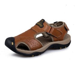 Men's Outdoor Sandals genuine leather hiking shoes