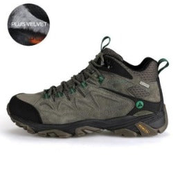 men's outdoor hiking shoes  sports climbing shoes non - slip warm lace-up trekking sneakers
