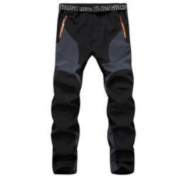 Thick Fleece Winter Men Sportwear Climbing Sweatpants Outdoor Sport Pants Waterproof Windproof Trousers for Men A3141 - Safaryworld Camping Fishing - Hiking Pants - Safaryworld.com