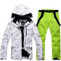 Winter Jacket+Pants Snowboard Men Waterproof Windproof Ski Jacket Climbing Thermal Snow Outdoor Ski Set