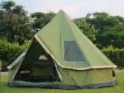 camping bell tent 300d oxford fabric 4m waterproof 6000 pu coated sunscreen spf50