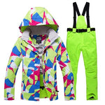winter snow jacket women ski suit female snow jacket and pants windproof  waterproof