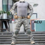 army military uniform camouflage tactical  pant and shirt set